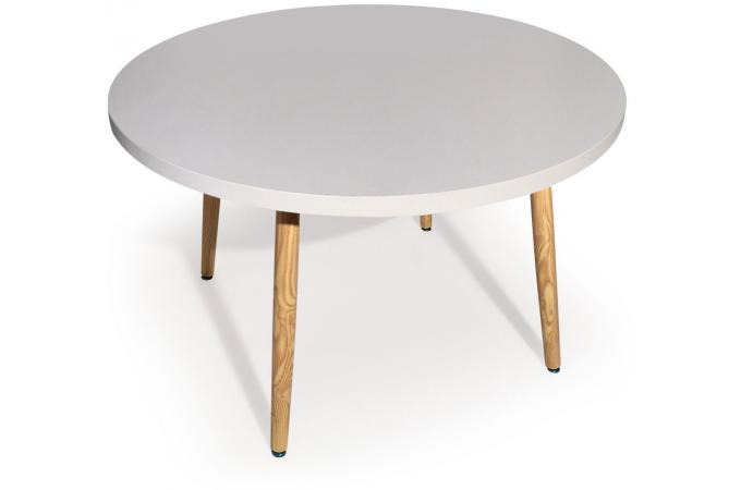 Table ronde style scandinave blanc blondie table for Table ronde extensible style scandinave