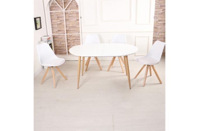 table scandinave extensible blanche joug table manger. Black Bedroom Furniture Sets. Home Design Ideas