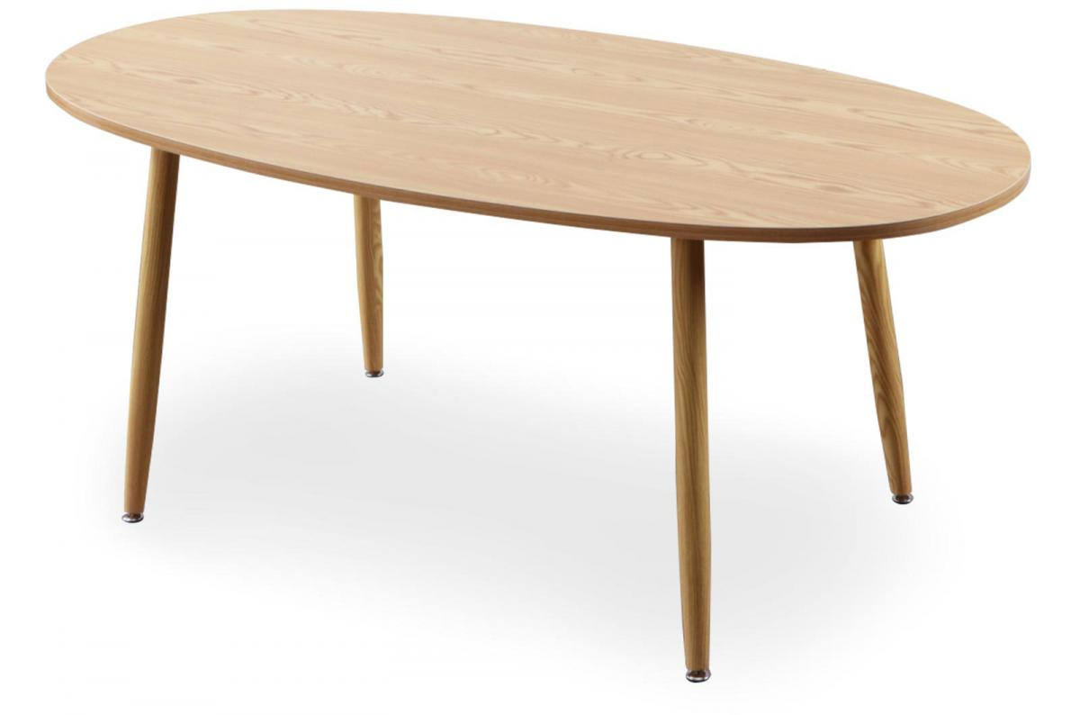 Table Scandinave Ovale Beige Noelle Table Salle A Manger Pas Cher