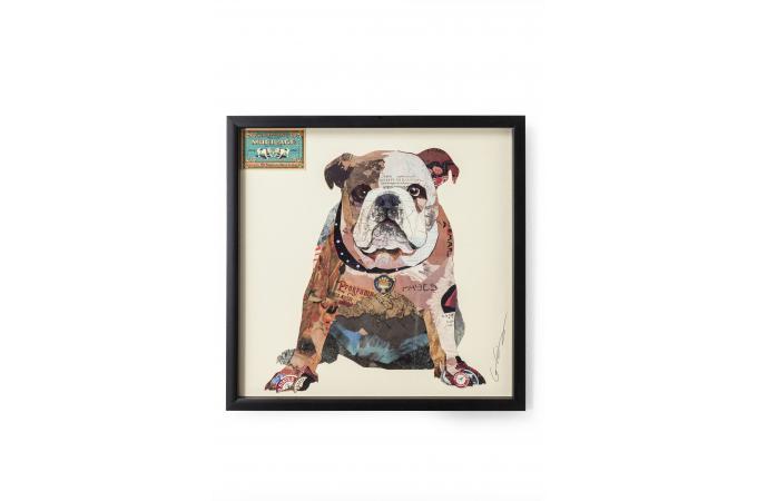 tableau kare design chien sharon tableau animaux pas cher. Black Bedroom Furniture Sets. Home Design Ideas