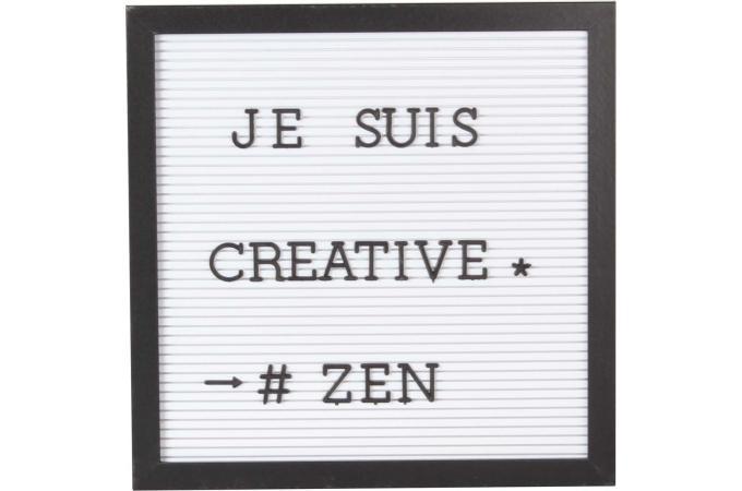 Tableau d 39 affichage blanc cadre noir message tableau - Cadre message lumineux ...
