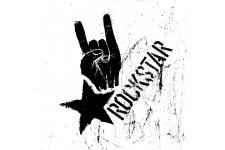 Tableau Dark Symbol Rock Star 80 x 80 - Tableau citation