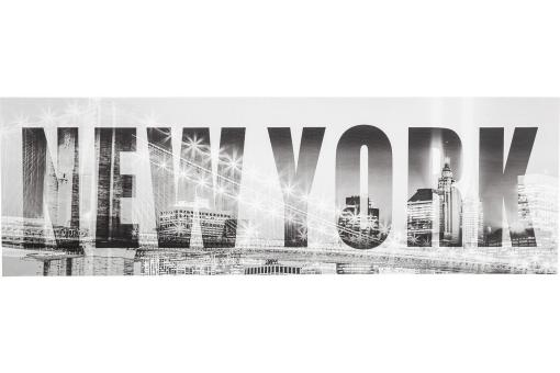 Tableau New York Bridge 45X140 cm