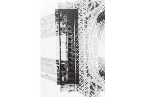 Tableau Paris Eiffel Tower 45X140 cm