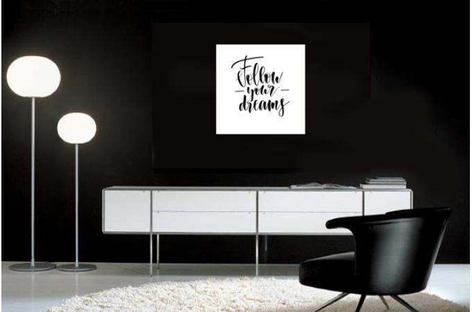 Tableau Quotes Follow Your Dreams 60x60 Plus D Infos