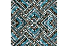Tableau The Fifth Patchwork Ethnicia 50 x 50 - Tableau abstrait