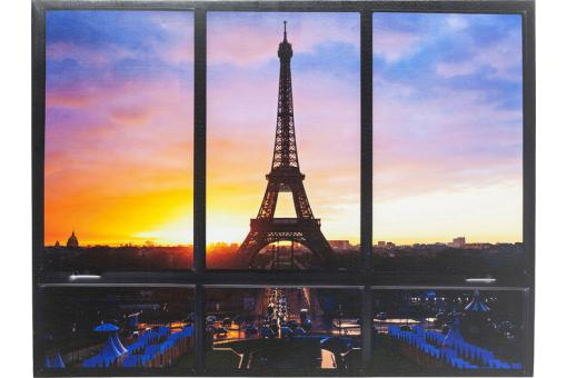 Tableau Window Eiffel Tower 95 x 113 cm