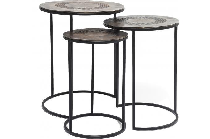 lot de 3 tables d 39 appoint marrakesh table d 39 appoint pas cher. Black Bedroom Furniture Sets. Home Design Ideas