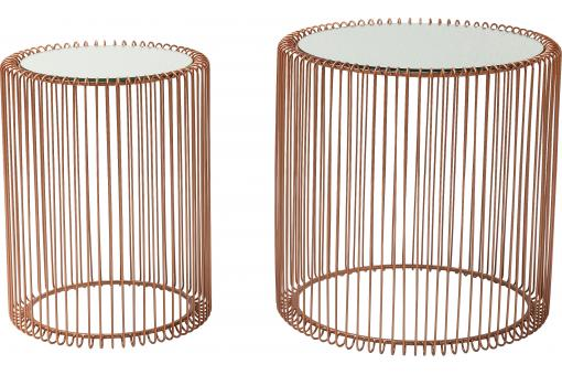 Set de 2 Tables d'appoint Wire cuivre