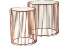 Set de 2 Tables d'appoint Wire cuivre - Table d appoint design