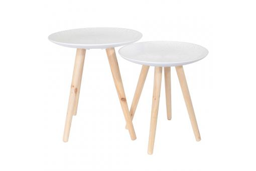 Tables Gigones D50 Relief Motifs Feuilles FARINO - Salon scandinave