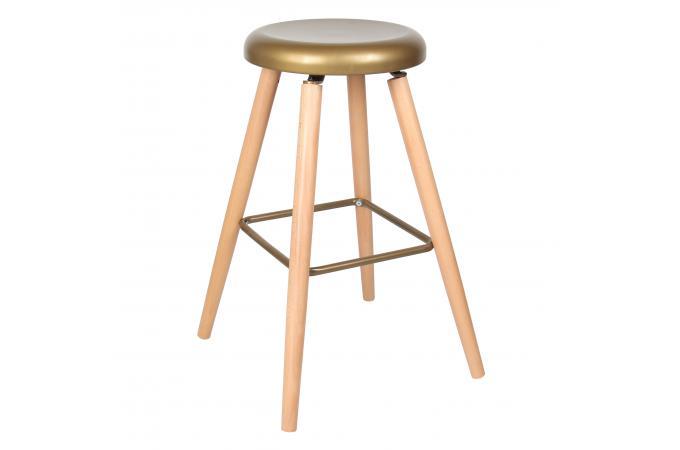 tabouret de bar bois m tal eusebio tabouret de bar pas cher. Black Bedroom Furniture Sets. Home Design Ideas