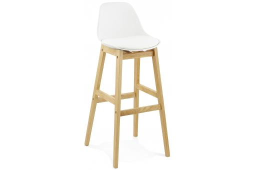 Tabouret de bar design LADY blanc