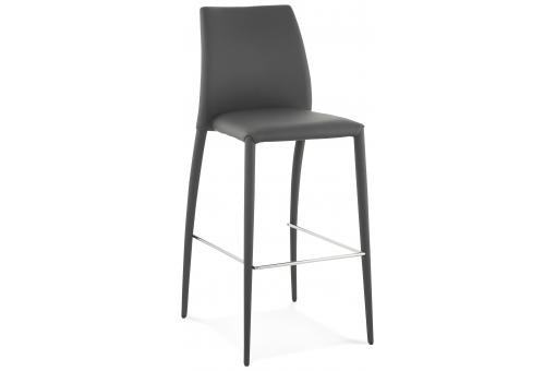Tabouret de bar design MADAME gris