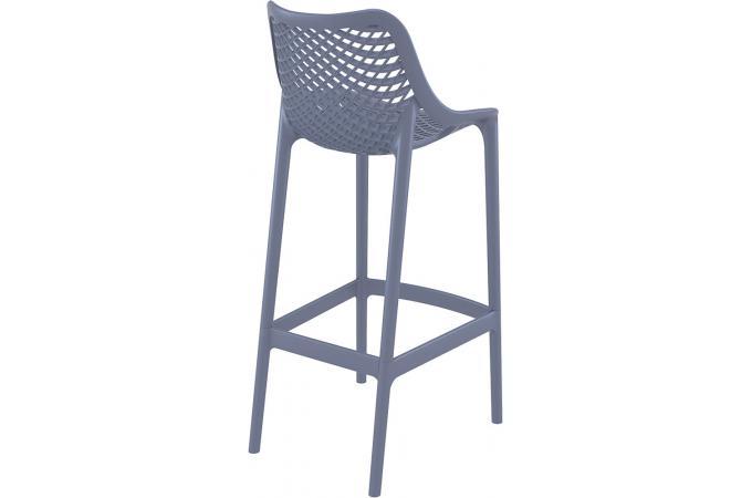 tabouret de bar design grise anthracite alison tabouret de bar pas cher. Black Bedroom Furniture Sets. Home Design Ideas