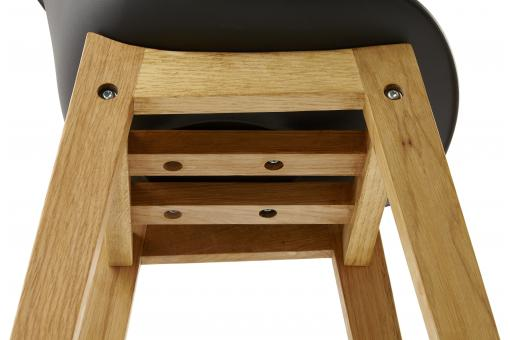 Tabouret de bar design LADY noir