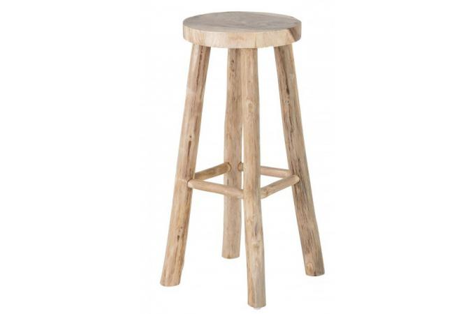 tabouret de bar rustique en bois massif silvest tabouret. Black Bedroom Furniture Sets. Home Design Ideas