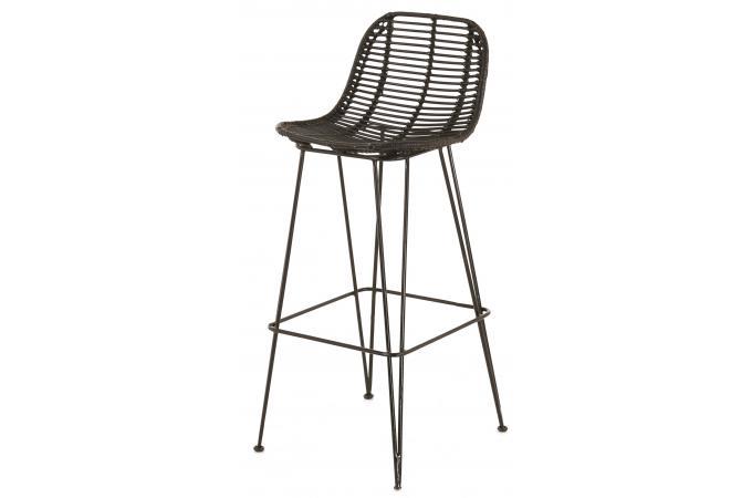 interesting tabouret de bar ethnique en kubu et mtal noir yundi with chaise bar pas cher. Black Bedroom Furniture Sets. Home Design Ideas