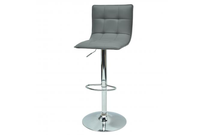 tabouret de bar haut dossier gris fabrizio tabouret de bar pas cher. Black Bedroom Furniture Sets. Home Design Ideas