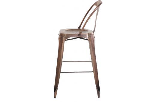 tabouret de bar industriel avec dossier marron kirk tabouret de bar pas cher. Black Bedroom Furniture Sets. Home Design Ideas