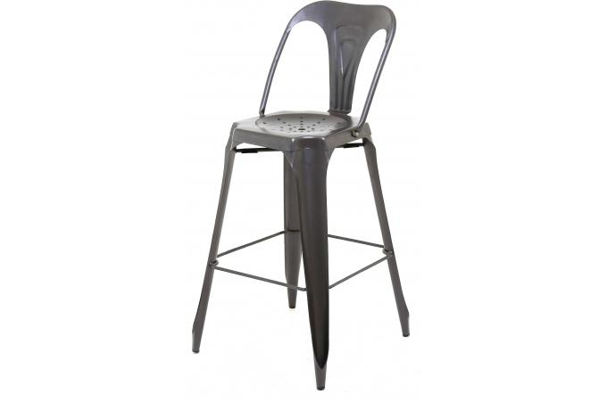 tabouret de bar industriel avec dossier m tal kirk tabouret de bar pas cher. Black Bedroom Furniture Sets. Home Design Ideas