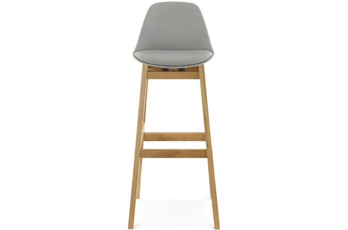 tabouret de bar pi tement bois style scandinave gris eloi tabouret de bar pas cher. Black Bedroom Furniture Sets. Home Design Ideas