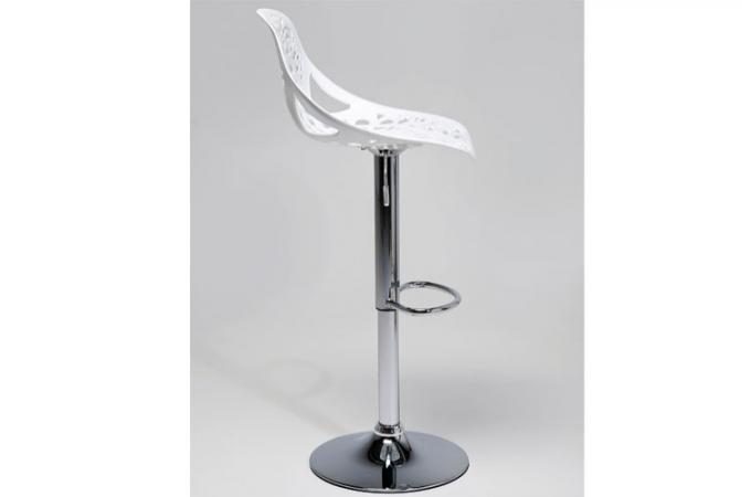 tabouret de bar blanc haddok declikdeco. Black Bedroom Furniture Sets. Home Design Ideas