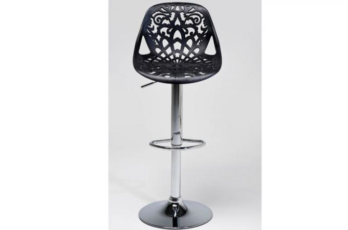 tabouret de bar r glable noir haddok tabourets de bar. Black Bedroom Furniture Sets. Home Design Ideas
