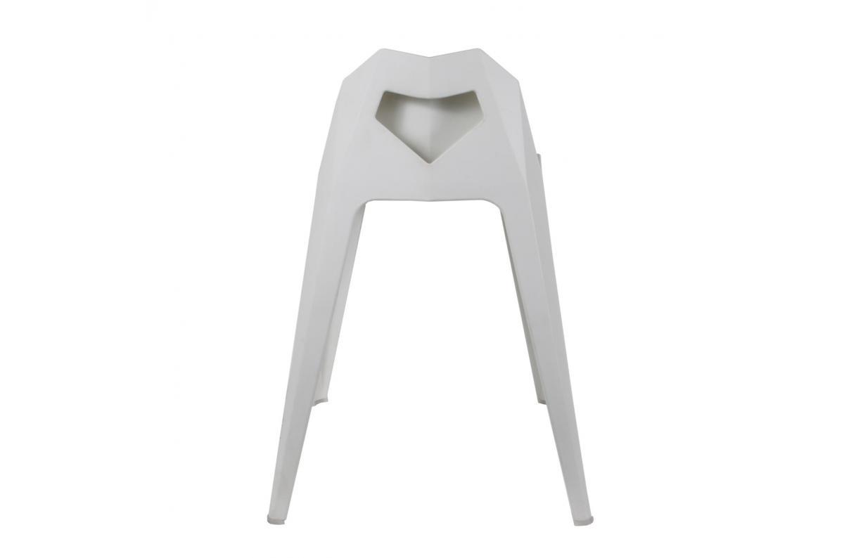 Tabouret Origami Blanc KERRY Fauteuil et Chaise de Jardin