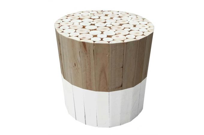 tabouret rond en bois blanc songe petit tabouret pas cher. Black Bedroom Furniture Sets. Home Design Ideas