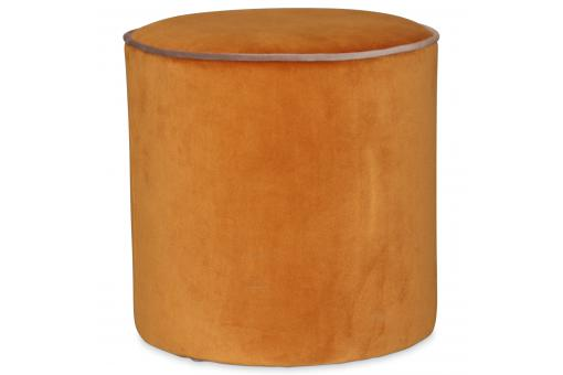 Pouf Rond en Velours Orange LOUPI - Pouf design pouf geant