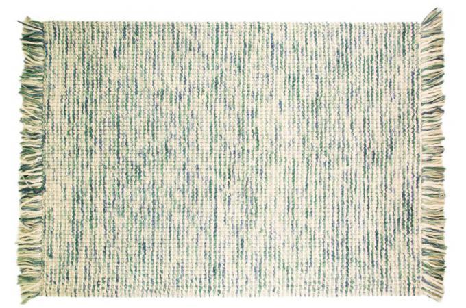 tapis 100 laine finition manuelle azteca 120x170 turquoise tapis design pas cher. Black Bedroom Furniture Sets. Home Design Ideas