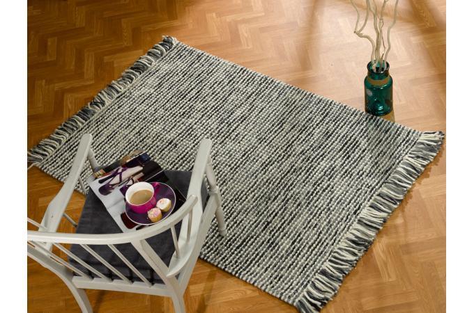 tapis 100 laine finition manuelle azteca 80x150 charbon tapis design pas cher. Black Bedroom Furniture Sets. Home Design Ideas