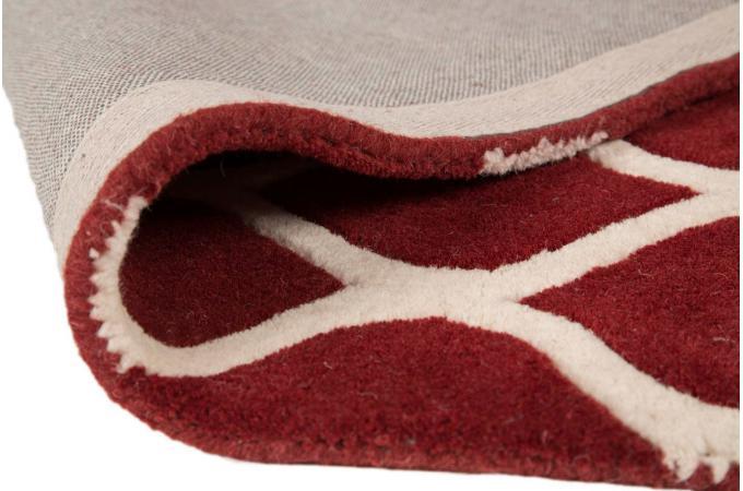 tapis 100 laine finition manuelle iris 120x170 rouge tapis design pas cher. Black Bedroom Furniture Sets. Home Design Ideas