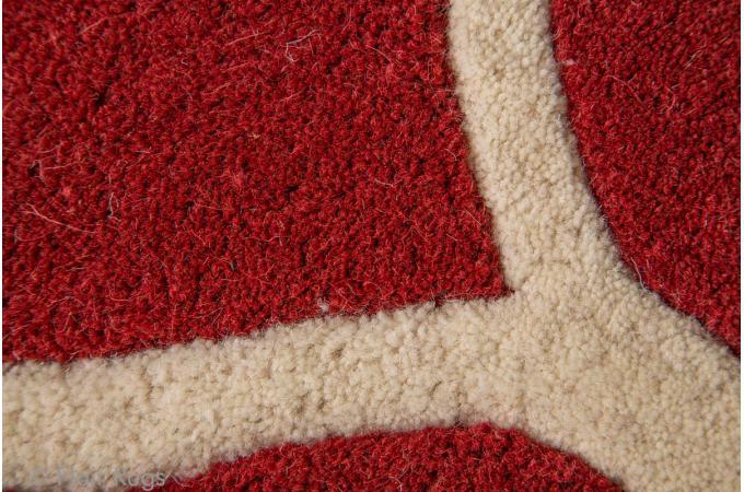 tapis 100 laine finition manuelle iris 160x230 rouge tapis design pas cher. Black Bedroom Furniture Sets. Home Design Ideas