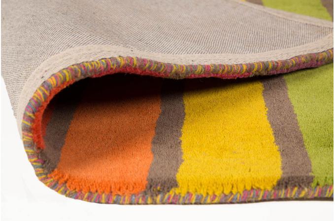 tapis 100 laine finition manuelle crush 120x170 tapis design pas cher. Black Bedroom Furniture Sets. Home Design Ideas