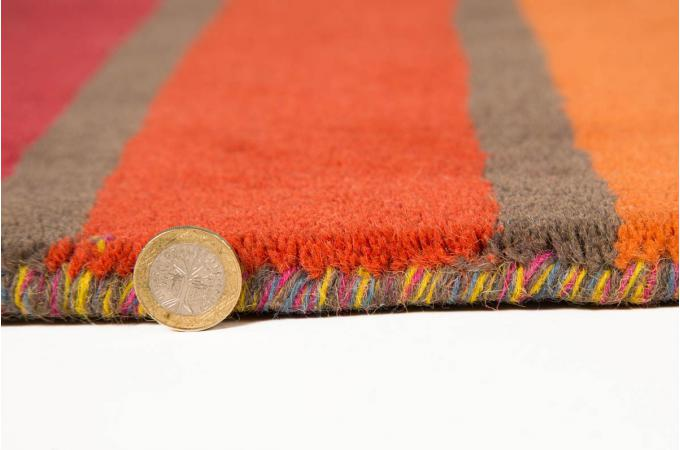 tapis 100 laine finition manuelle crush 80x150 tapis design pas cher. Black Bedroom Furniture Sets. Home Design Ideas