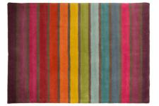 Tapis 100% laine finition manuelle CRUSH 80X150 - Tapis multicolore