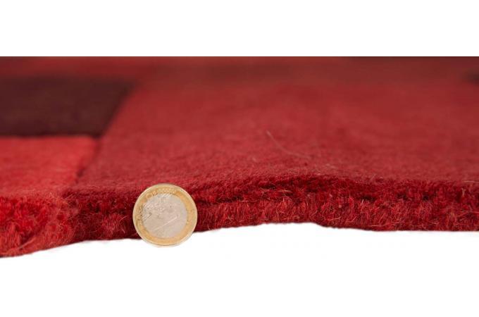 tapis 100 laine finition manuelle sticker 90x150 rouge tapis design pas cher. Black Bedroom Furniture Sets. Home Design Ideas