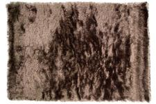 Tapis 100% polyester BRIGHTON 120X170 Naturel - Tapis shaggy marron