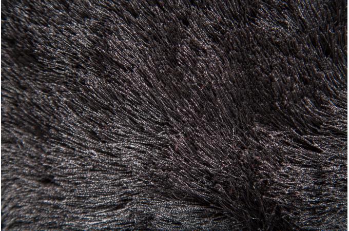 Tapis 100 polyester brighton 75x150 noir tapis shaggy pas cher - Tapis shaggy noir pas cher ...