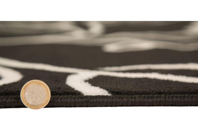 tapis 100 polypropylene dear 160x230 noir tapis design With tapis de souris personnalisé avec canapé chesterfield tissu patchwork