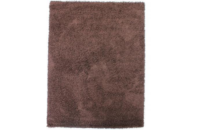Tapis 100 polypropylene shaggy epaisseur 4cm 70x140 - Tapis shaggy chocolat ...