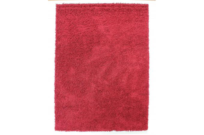 tapis 100 polypropylene shaggy epaisseur 4cm 70x140 rouge tapis shaggy pas cher. Black Bedroom Furniture Sets. Home Design Ideas