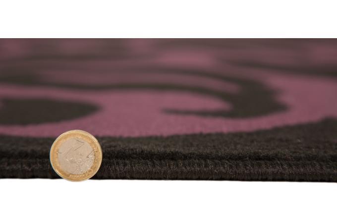 Tapis 100 polypropylene warrool 120x160 noir et violet - Tapis noir et violet ...