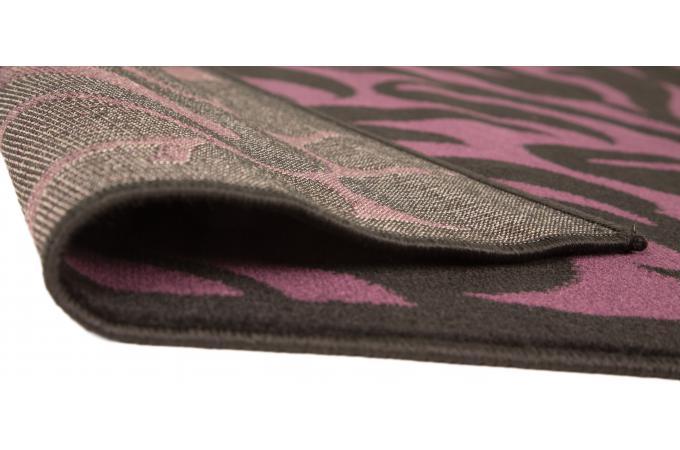 tapis 100 polypropylene warrool 160x220 noir et violet tapis design pas cher. Black Bedroom Furniture Sets. Home Design Ideas