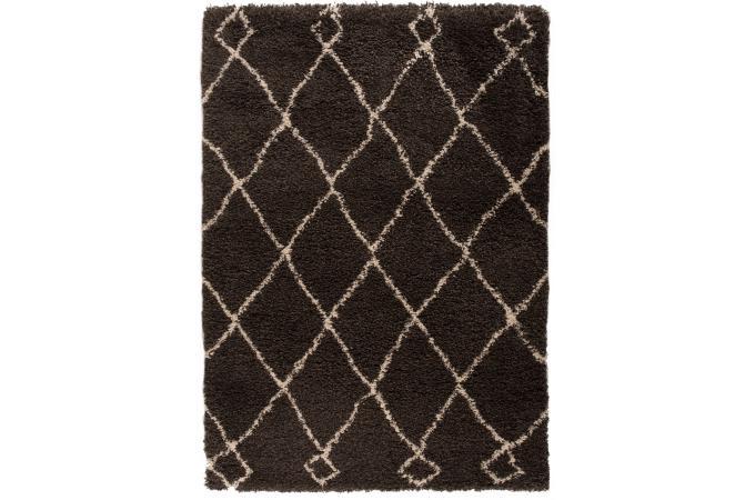 Tapis 100 polypropylene zumba 120x170 charbon tapis for Zumba exterieur