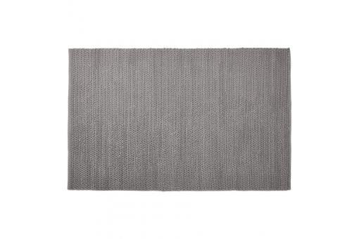 tapis 160x230cm coton gris elorriaga tapis design pas cher. Black Bedroom Furniture Sets. Home Design Ideas