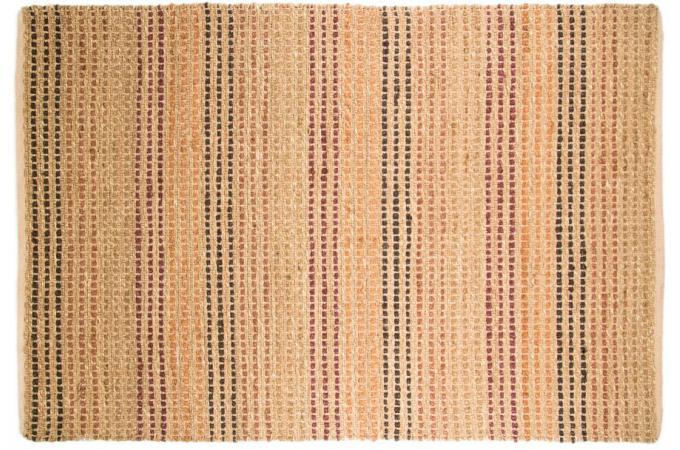 tapis naturel et coton 120x170 terracotta tapis classiques pas cher. Black Bedroom Furniture Sets. Home Design Ideas