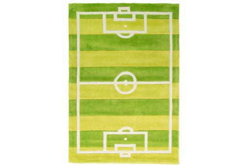 Tapis Acrylique et polyester 140gms FOOTBALL 110X160 Vert